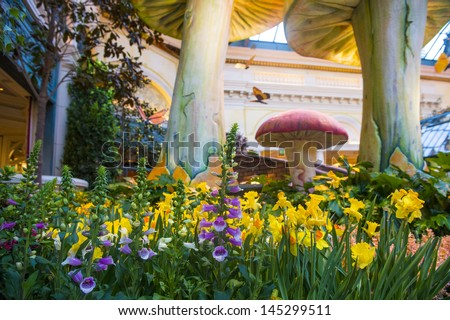 LAS VEGAS   APRIL 23: Spring Season In Bellagio Hotel Conservatory U0026 Botanical  Gardens On