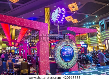 LAS VEGAS - APRIL 13 : The Planet Hollywood casino in Las Vegas on April 13 2016. Planet Hollywood has over 2,500 rooms available and it located on Las Vegas Boulevard.