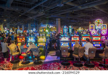 LAS VEGAS - AUG 23 : The interior of SLS Hotel & casino in Las Vegas on August 23 2014 ,The hotel reopened on August 23, 2014. after a $415 million renovation as part of SBE's chain of SLS hotels. - stock photo