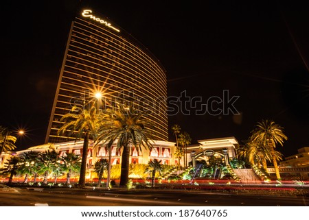 LAS VEGAS - AUGUST 18: The Encore at Wynn luxury resort, casino and hotel on August 18, 2012 in Las Vegas
