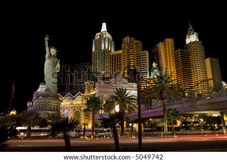 Las Vegas casinos at night - stock photo