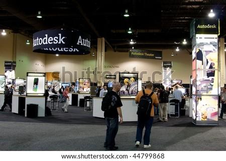 LAS VEGAS - DEC 3:   AutoDesk University 2009 Conference December 3, 2009 at the Mandalay Bay Hotel and Casino Las Vegas, Nevada. - stock photo