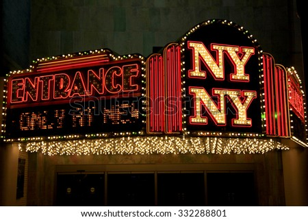 LAS VEGAS - DEC 27: LasVegas Newyork Newyork hotel on December 27, 2012,The city is one of the top three leading destinations in the United States for conventions, business, and meetings. - stock photo
