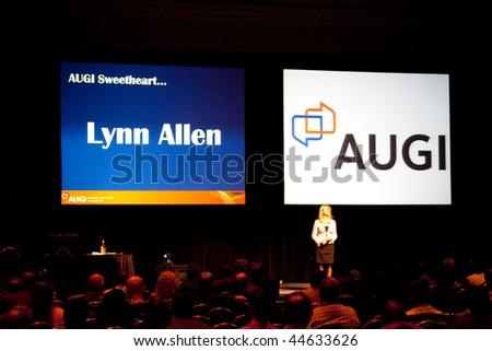 LAS VEGAS - DEC 2:   Lynn Allen at the AutoDesk University 2009 Conference December 2, 2009 at the Mandalay Bay Hotel and Casino Las Vegas, Nevada. - stock photo