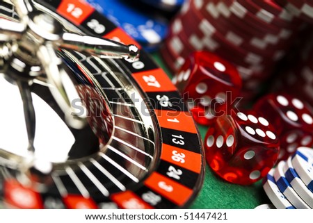Las Vegas game - stock photo