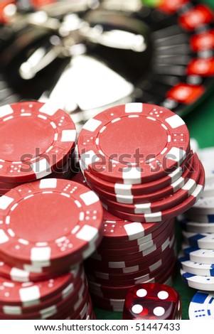 Las Vegas game - stock photo