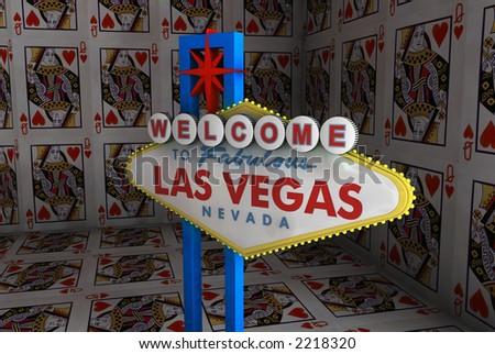 Las Vegas House of Cards - stock photo