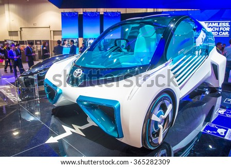 LAS VEGAS - JAN 08 : The Toyota FCV Plus Hydrogen Concept car at the CES Show in Las Vegas, Navada, on January 08, 2016. CES is the world's leading consumer-electronics show.