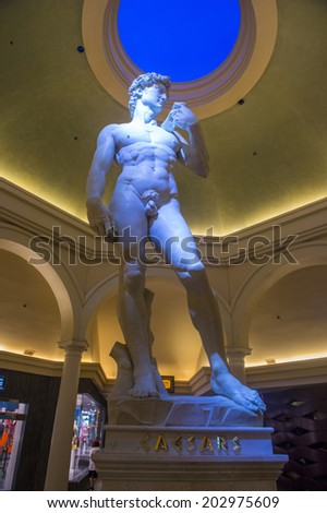 LAS VEGAS - JUNE 15 :The Ceasars Palace interior on June 15, 2014 in Las Vegas. Caesars Palace is a luxury hotel and casino located on the Las Vegas Strip. Caesars has 3,348 rooms in five towers