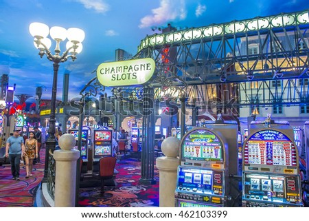 LAS VEGAS - JUNE 22 : The interior of Paris hotel and casino on June 22 2016 in Las Vegas, Nevada,  The Paris hotel opened in 1999 and features a replica of the Eiffel Tower.