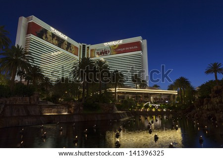LAS VEGAS - JUNE 05, : The Mirage Hotel on June 05, 2013  in Las Vegas, NV. The Volcano was renovated in 2008 with real Volcano audio and music by Grateful Dead drummer Mickey Hart.