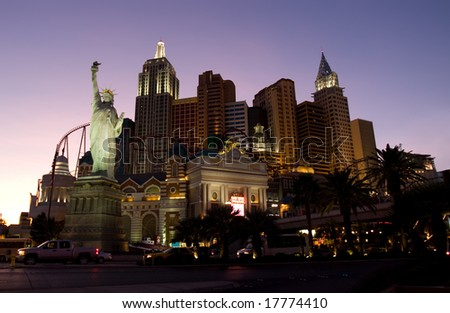 Las Vegas main street Strip at night - stock photo