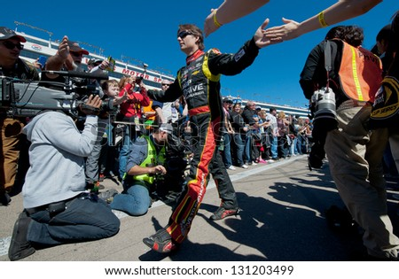 LAS VEGAS - MAR 10: Jeff Gordon at the Nascar Kobalt 400 in Las Vegas, NV on Mar 10, 2013 - stock photo