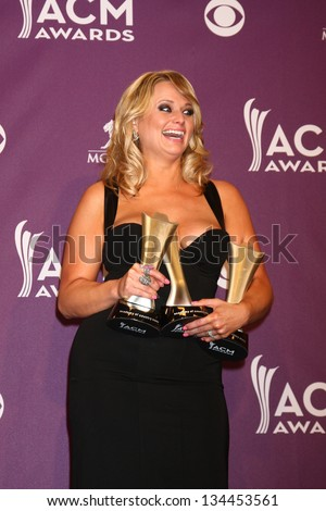 LAS VEGAS - MAR 7:  Miranda Lambert in the press room at the 2013 Academy of Country Music Awards at the MGM Grand Garden Arena on March 7, 2013 in Las Vegas, NV - stock photo
