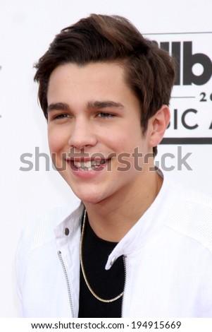 LAS VEGAS - MAY 18:  Austin Mahone at the 2014 Billboard Awards at MGM Grand Garden Arena on May 18, 2014 in Las Vegas, NV - stock photo