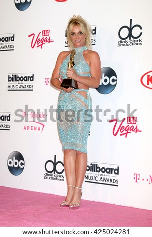 LAS VEGAS - MAY 22:  Britney Spears at the Billboard Music Awards 2016 at the T-Mobile Arena on May 22, 2016 in Las Vegas, NV - stock photo