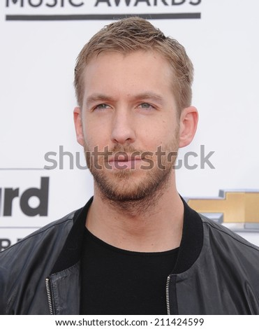 LAS VEGAS - MAY 18:  Calvin Harris arrives to the Billboard Music Awards 2014  on May 18, 2014 in Las Vegas, NV.                 - stock photo