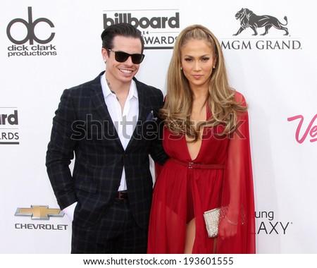 LAS VEGAS - MAY 18:  Casper Smart, Jennifer Lopez at the 2014 Billboard Awards at MGM Grand Garden Arena on May 18, 2014 in Las Vegas, NV - stock photo