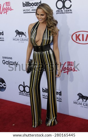 LAS VEGAS - MAY 17: Chrissy Teigen at the 2015 Billboard Music Awards at the MGM Grand Garden Arena on May 17, 2015 in Las Vegas, Nevada. - stock photo