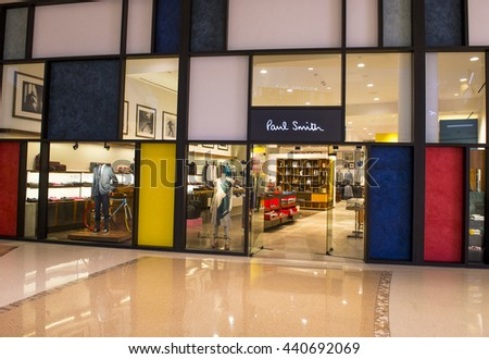 LAS VEGAS - MAY 21 : Exterior of a Paul Smith store in Las Vegas strip on May 21, 2016. Paul Smith is a British designer with more than 300 shops worldwide.