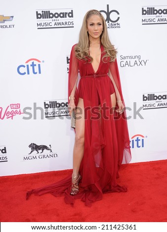 LAS VEGAS - MAY 18:  Jennifer Lopez arrives to the Billboard Music Awards 2014  on May 18, 2014 in Las Vegas, NV.                 - stock photo