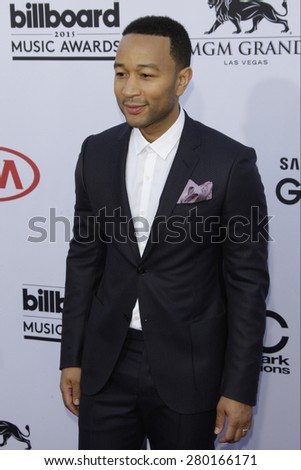 LAS VEGAS - MAY 17: John Legend at the 2015 Billboard Music Awards at the MGM Grand Garden Arena on May 17, 2015 in Las Vegas, Nevada. - stock photo