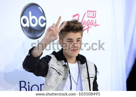 LAS VEGAS - MAY 20: Justin Bieber at the 2012 Billboard Music Awards held at the MGM Grand Garden Arena on May 20, 2012 in Las Vegas, Nevada - stock photo