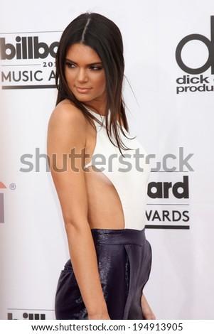 LAS VEGAS - MAY 18:  Kendall Jenner at the 2014 Billboard Awards at MGM Grand Garden Arena on May 18, 2014 in Las Vegas, NV - stock photo