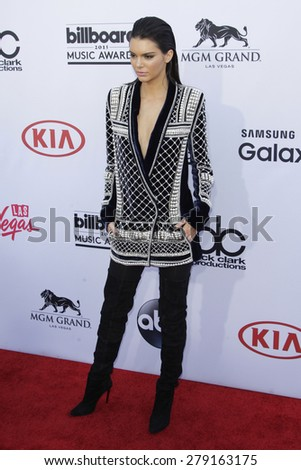 LAS VEGAS - MAY 17:  Kendall Jenner at the Billboard Music Awards 2015 at the MGM Garden Arena on May 17, 2015 in Las Vegas, NV - stock photo