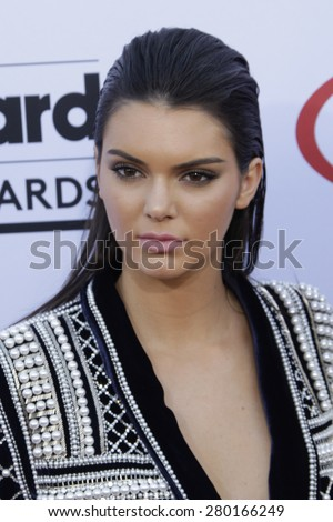 LAS VEGAS - MAY 17: Kendall Jenner at the 2015 Billboard Music Awards at the MGM Grand Garden Arena on May 17, 2015 in Las Vegas, Nevada. - stock photo