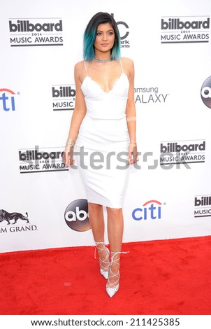LAS VEGAS - MAY 18:  Kylie Jenner arrives to the Billboard Music Awards 2014  on May 18, 2014 in Las Vegas, NV.                 - stock photo