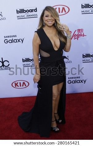 LAS VEGAS - MAY 17: Mariah Carey at the 2015 Billboard Music Awards at the MGM Grand Garden Arena on May 17, 2015 in Las Vegas, Nevada.