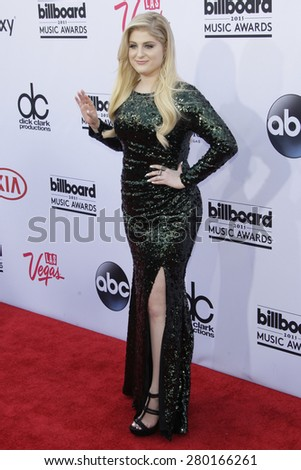 LAS VEGAS - MAY 17: Meghan Trainor at the 2015 Billboard Music Awards at the MGM Grand Garden Arena on May 17, 2015 in Las Vegas, Nevada. - stock photo