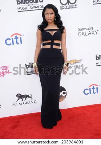 LAS VEGAS - MAY 18:  Nicki Minaj arrives to the Billboard Music Awards 2014  on May 18, 2014 in Las Vegas, NY                 - stock photo