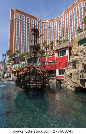 LAS VEGAS - MAY 7, 2015 - Phillip Ruffin bought The Frontier hotel and then sold it for a huge profit allowing him to purchase Treasure Island from MGM resorts. - stock photo