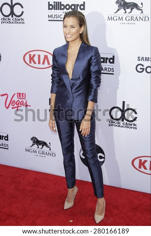 LAS VEGAS - MAY 17: Renee Bargh at the 2015 Billboard Music Awards at the MGM Grand Garden Arena on May 17, 2015 in Las Vegas, Nevada. - stock photo