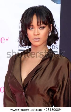 LAS VEGAS - MAY 22:  Rihanna at the Billboard Music Awards 2016 at the T-Mobile Arena on May 22, 2016 in Las Vegas, NV - stock photo