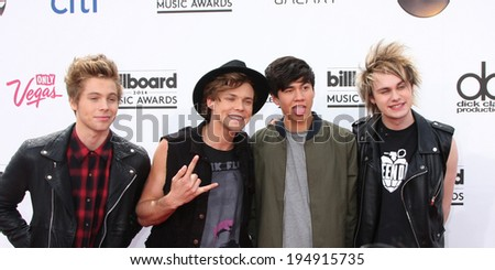 LAS VEGAS - MAY 18:  5 Seconds of Summer at the 2014 Billboard Awards at MGM Grand Garden Arena on May 18, 2014 in Las Vegas, NV - stock photo