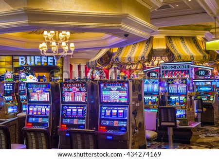 LAS VEGAS - MAY 21 : The interior of Bellagio hotel and casino on May 21 , 2016 in Las Vegas. Bellagio is a luxury hotel and casino located on the Las Vegas Strip. The Bellagio opened on 1998.