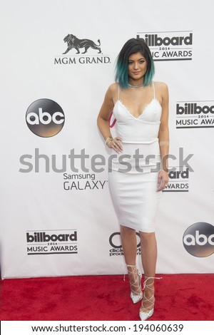 LAS VEGAS - MAY 18 : TV personality Kylie Jenner attend the 2014 Billboard Music Awards at the MGM Grand Garden Arena on May 18, 2014 in Las Vegas. - stock photo
