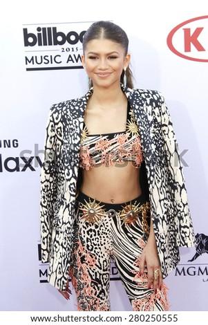 LAS VEGAS - MAY 17: Zendaya at the 2015 Billboard Music Awards at the MGM Grand Garden Arena on May 17, 2015 in Las Vegas, Nevada. - stock photo