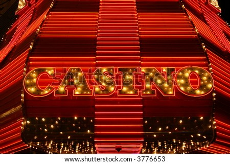 Las Vegas neon casino marquee sign - stock photo
