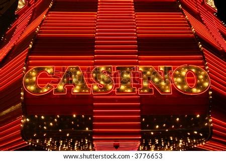Las Vegas neon casino marquee sign - stock photo