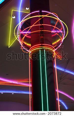 Las Vegas neon lights - stock photo