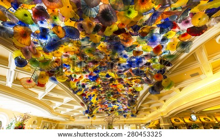 las vegas nevada april 06 2015 interiors of the lobby at bellagio - Yellow Hotel 2015