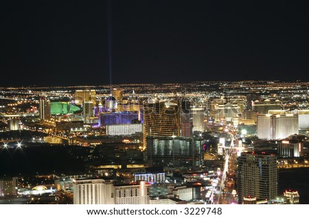 Las Vegas, Nevada at night.