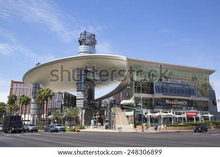 LAS VEGAS, NEVADA - MAY 9, 2014: Fashion Show Mall on the Las Vegas Strip in Las Vegas. The Fashion Show mall is one of the largest enclosed malls in the world