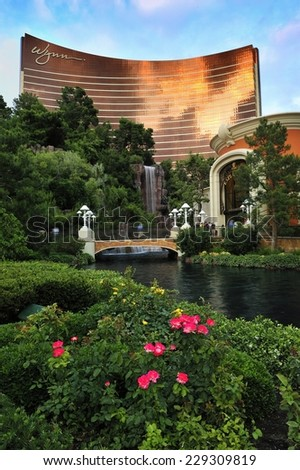 LAS VEGAS, NEVADA, - MAY 23. 2008: The Wynn Hotel and casino in Las Vegas.  - stock photo