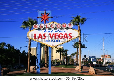 LAS VEGAS, NEVADA - 31 Oct 2014, Welcome to Never Sleep city Las Vegas,American,America