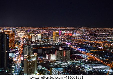 LAS VEGAS, NEVADA - OCTOBER 23, 2012 - Vegas is a city of the United States of America, county seat of Clark County, and largest city in the state of Nevada  entertainment capital of the  gambling